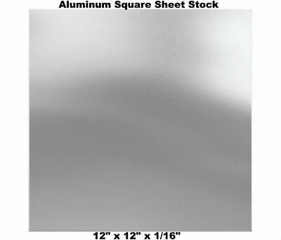 12 Length Unpolished Finish 6061 Aluminum Sheet 12 Width Mill ASTM B209 1//8 Thickness T6 Temper
