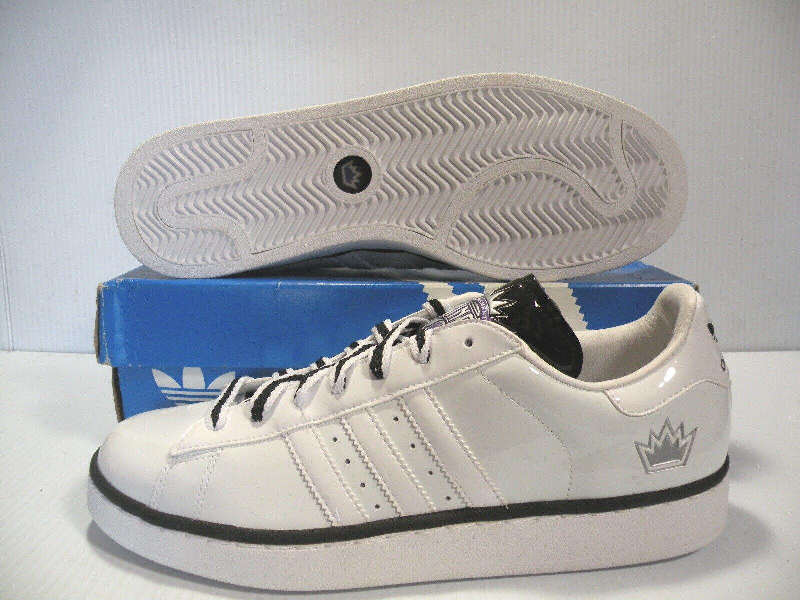 Adidas campus ii + nba - könige niedrigen turnschuhe männer weiße  44312 größe 11,5 neue schuhe