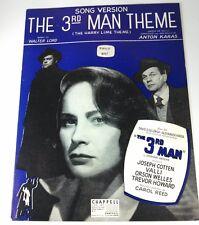 THE 3RD MAN THEME (SONG VERSION) - SHEET MUSIC - Copyright 1949 & 1950