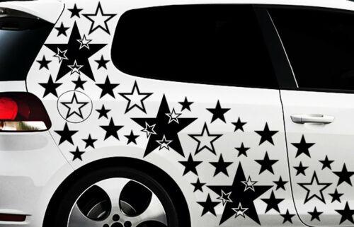 teiliges Sterne Star Auto Aufkleber Set Sticker Tuning WANDTATTOO Blumen x1x 93