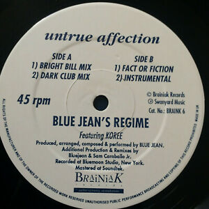 Bluejeans-Regime-Untrue-Affection-1990-UK-Vinyl-12-034-Single-Braink06-UNPLAYED