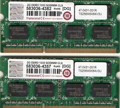 4GB 2x 2GB Kit Apple MacBook MB062LL//A MB063LL//A MA402LL//A MB403LL//A RAM Memory