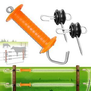 1 X Orange Heavy Duty Gare Poignée + 2 X Porte Ancre Isolateur Clôture électrique-afficher Le Titre D'origine