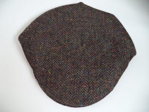 Irish tweed flat cap hat BROWN GREEN Shandon Cork Ireland wool driving ivy