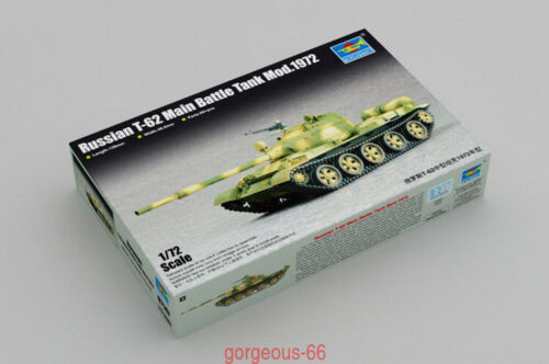 Trumpeter 1//72 07147 Russian T-62 Main Battle Tank Mod.1972