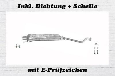 Opel Astra G 1.4 1.6 55//66KW Mittelschalldämpfer Auspuff DichtungSchelle
