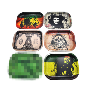 Printed-Durable-Cigarette-Tray-Metal-Plate-Rolling-Smoking-Holder-Trays