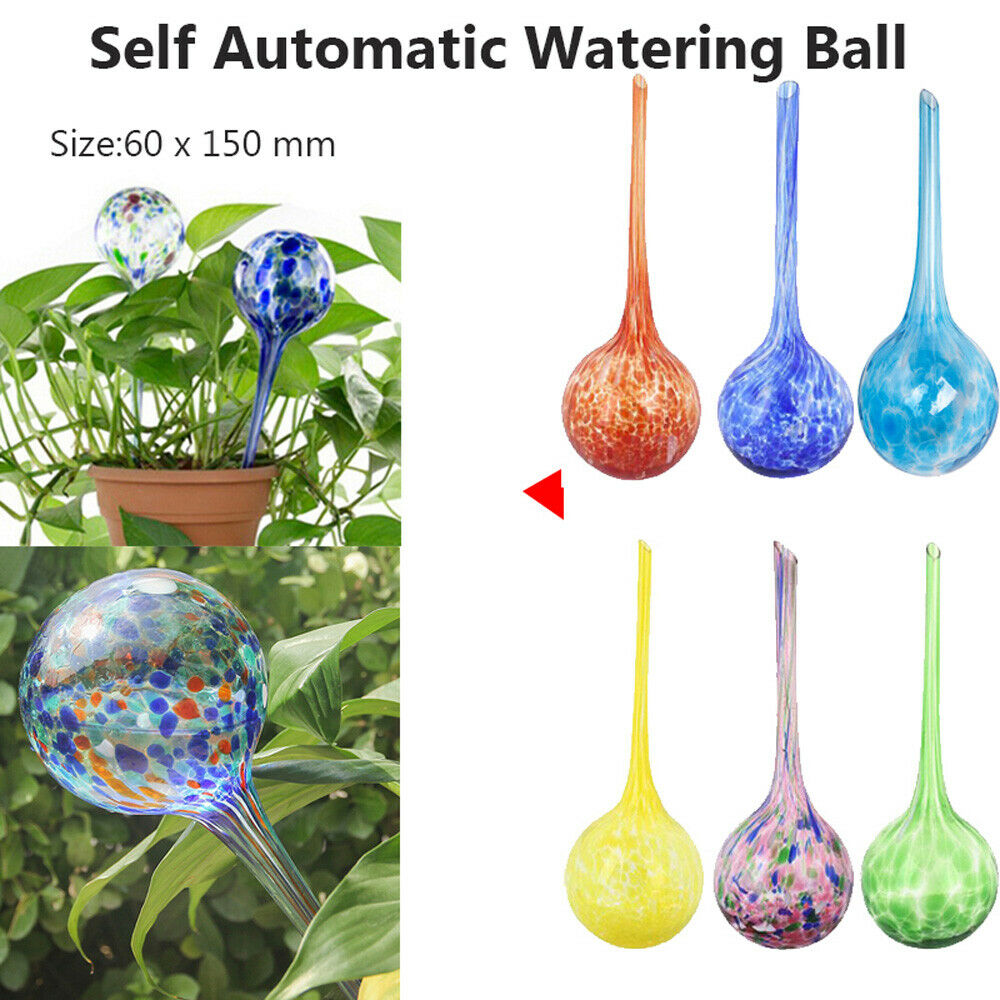 Plant Watering Spheres Globes Outdoor Garden Pots Waterers Colourful Glass