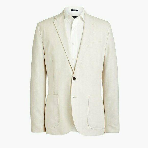 J.Crew Slim Fit Thompson Cotton Linen Blazer 38R