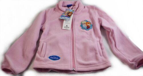 Reine des Neiges rose gilet polaire Frozen 1 veste de 3 à 7 ans.