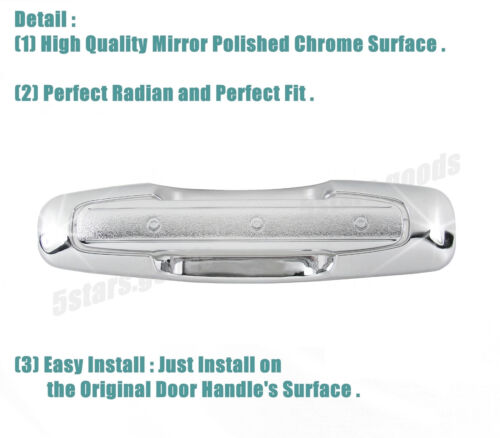 Tailgate Door Handle Covers For 1999-2004 Chevrolet Tracker SUV Chrome Side