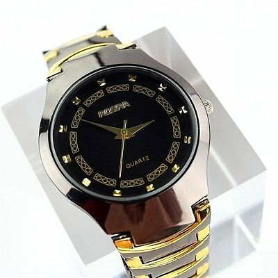 New Fashion Mens Stainless Steel Band Sport Quartz Analog Wrist Watch Watches