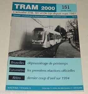 TRAM-2000-N-151-Janvier-1995-TRAMWAY-AUTOBUS-STIB-EUROMETRO-VOLVO