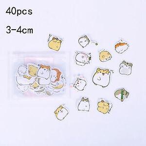 40pcs-hamster-Paper-Sticker-Cartoon-Art-Sticker-Craft-Album-Scrapbooking-Decor