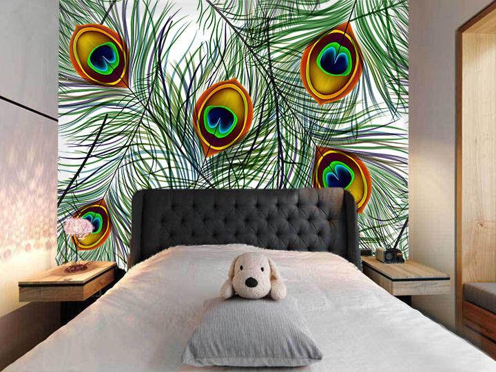 3D Pretty Feathers 74 Wall Paper Murals Wall Print Wall Wallpaper Mural AU Lemon