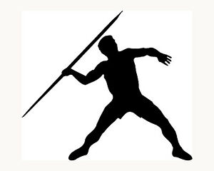 Javelin-Throw-Sticker-Car-Window-Decal-Toss-Olympic-Sports-Spear-Vinyl-Cool-Gift