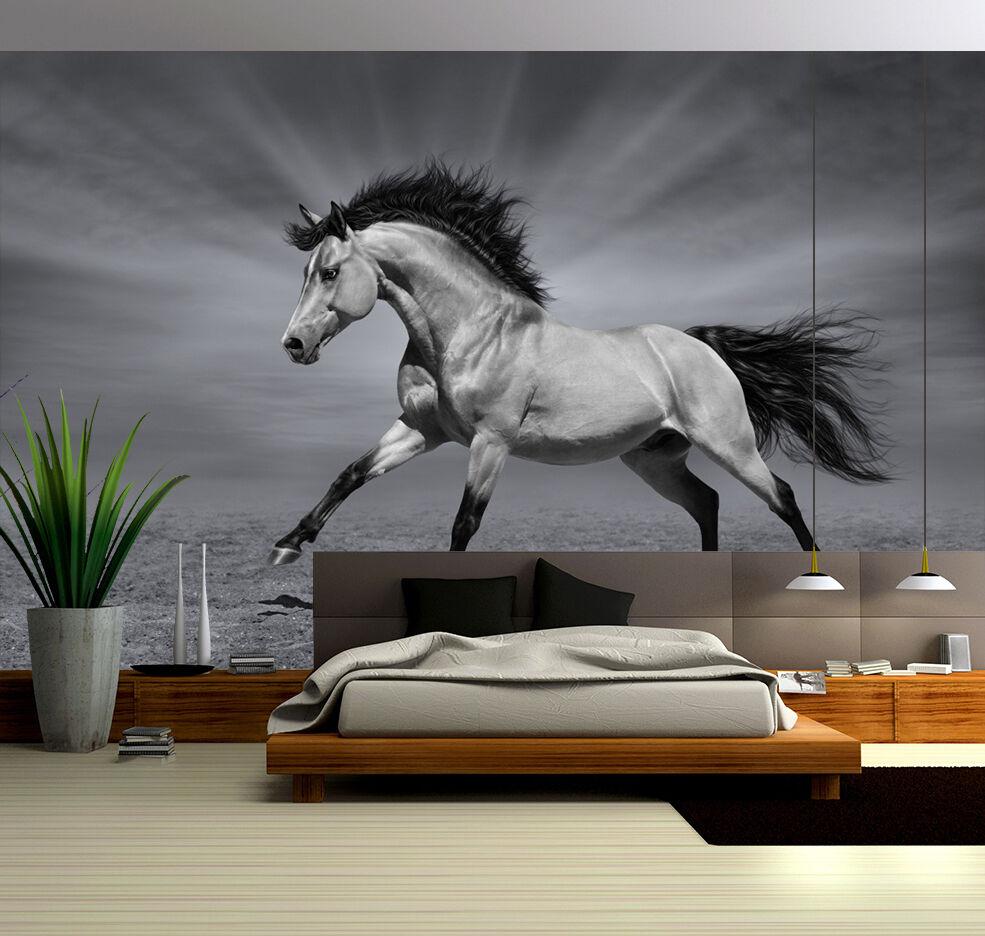 3D Handsome Horse 904 WallPaper Murals Wall Print Decal Wall Deco AJ WALLPAPER