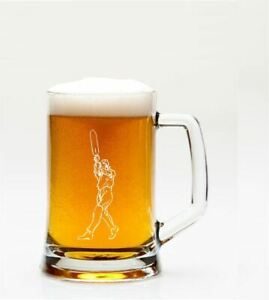 Pint-Glass-Tankard-With-Cricketer-Design