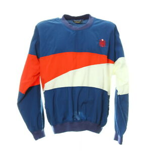 Vintage-Sport-Shirt-Langarm-Herren-Gr-L-Jersey-Trikot-Retro-Sweatshirt