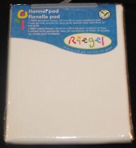 Riegel Cotton Flannel Crib Pad Water Resistant New Ebay