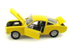 MUSTANG-GT350-FASTBACK-1966-YELLOW-SHELBY-COLLECTIBL-1-18-REPLICA-DIE-CAST-MODEL