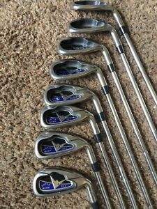 RH-Super-Hawk-SH-8-Golf-Club-Iron-Set-3-5-6-7-8-9-PW-SW-Steel