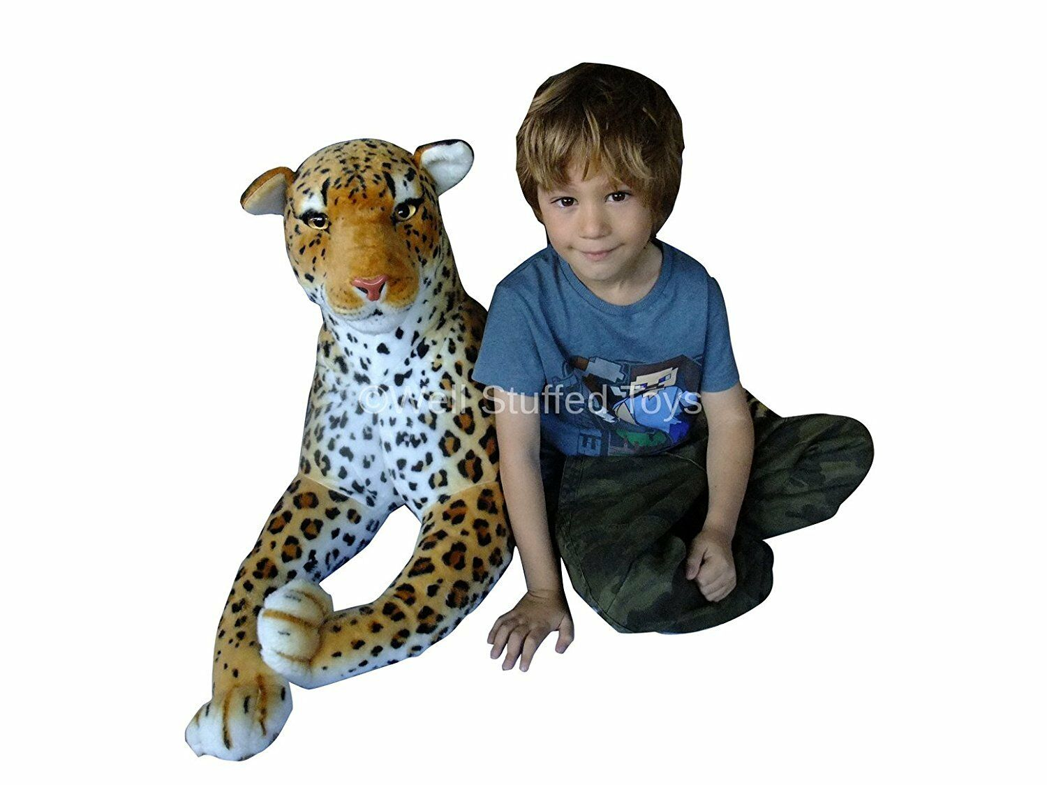 New Extra Large Leopard Soft Cuddly Toy 150 cm Soft Toy Plush