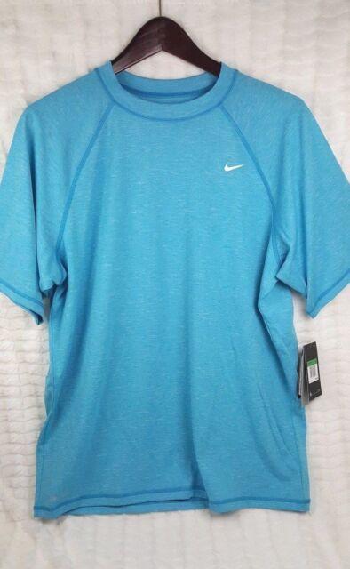 6ab87127 Nike Men Long Sleeve UPF 40 Dri Fit Blue Shirt Sz Large L for sale ...
