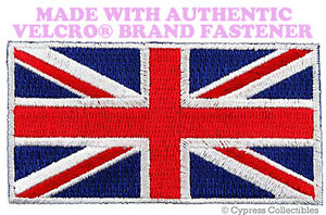 UK-FLAG-PATCH-UNION-JACK-Great-Britain-ENGLAND-EMBLEM-w-VELCRO-Brand-Fastener