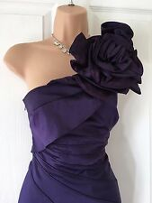 Karen Millen Rosette Corsage Cadbury's Purple Pencil/Wiggle Dress 10