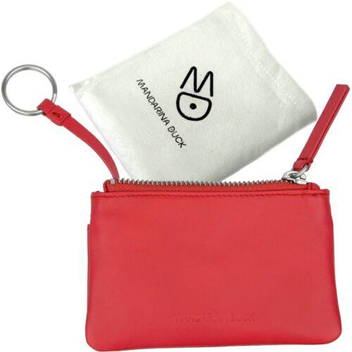 pink Mappe Mandarina Damen Key Duck Case Schlüsseletui Leather schlüssel Tasche B5BxTAvqw