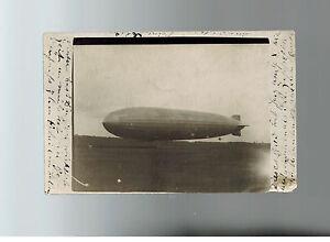 1931 Deutschland Graf Zeppelin auf Grund RPPC Postkarte Abdeckung