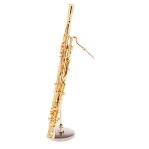 1//6 Metal Musical Instruments Bassoon Model Soldier Scenario Accessories Set