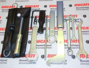 Generic-Ducati-Guzzi-tool-kit-bag-plug-amp-other-wrenches-screwdriver-more-tools-A