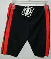 Men Permit Brand Cycling Solid Red Black Spandex Short Size M
