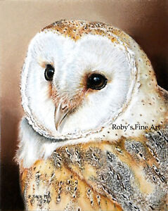 034-Barn-Owl-034-Art-Print-5x7-Giclee-Image-by-Realism-Artist-Roby-Baer-PSA