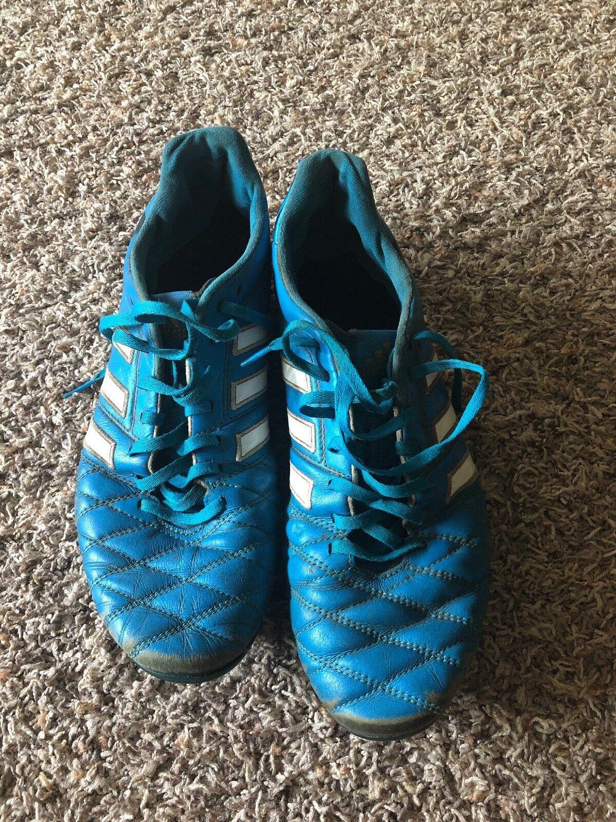Adidas Adipure 11pro Soft Ground blu e bianca Soccer Cleats uomini's Diuominiione 10.5