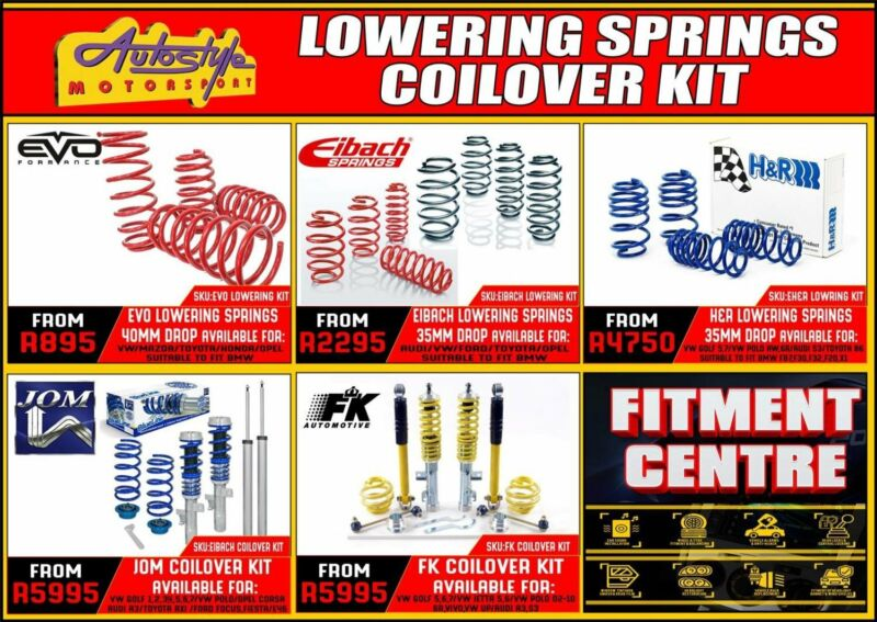 Lowering springs, coil-over coilover suspension kits springs and shocks, adjustable ride quality and