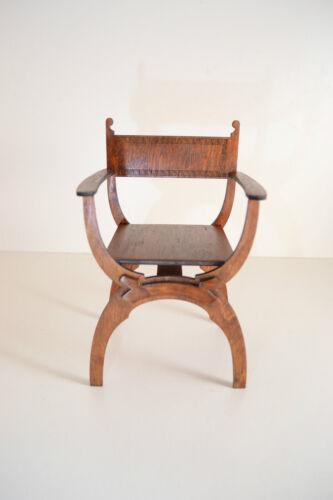 """Dantesca chair for Dolls 1//4 16/"""" TONNER BJD Italian Renaissance wooden NEW"""