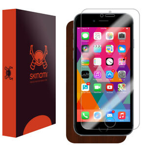 purchase cheap 85a23 8ab06 Details about Skinomi TechSkin - Dark Wood Skin & Screen Protector for  Apple iPhone 6S (Plus)