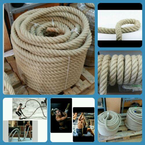 Corda Cordone Rope Canapa 34mm Climbing Clim Crossfit Funzionale Power Rope