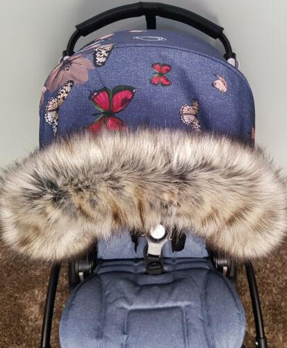 Christmas Best Gift Over 100 Colours Pram Fur Hood Trim Furs Baby Prams Stroller