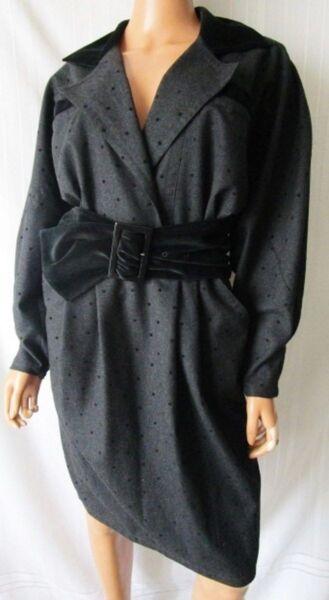 ***mariella Burani Vestito Abito Elegante Dress Vintage Tg.44 Lana Colore Grigio