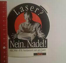 Aufkleber/Sticker: NEC p60 p70 Laser Nein Nadel (02111646)