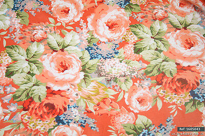 "Vintage Dress Craft Floral 100% cotton fabric sold by meter 63""width [1605043]"