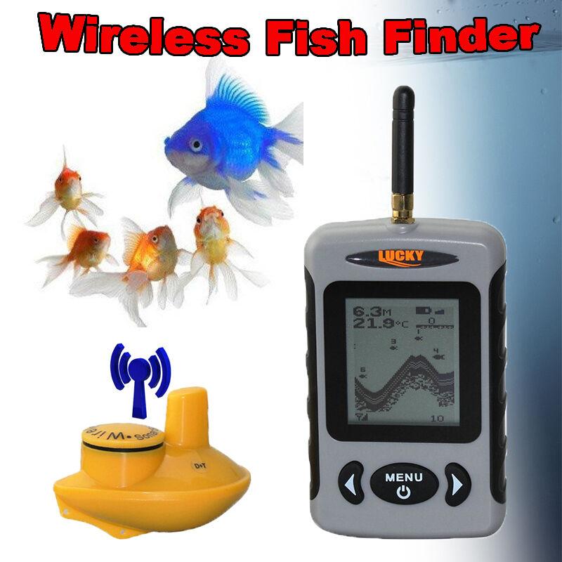 Lucky FFW718 100m Portátil Inalámbrico Sonar Buscador de los pescados alarma 40M 120FT de profundidad