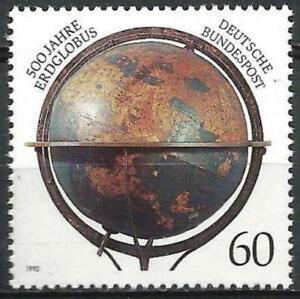 Germania-1992-Gomma-integra-non-linguellato-500th-ANNIV-GLOBO-TERRESTRE-MARTIN-BEHAIM-Mi-1627-SG