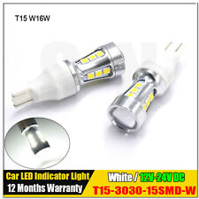 Xenon White Error Free T15 LED Bulbs For Auto Car Back up Reverse Lights 912 921