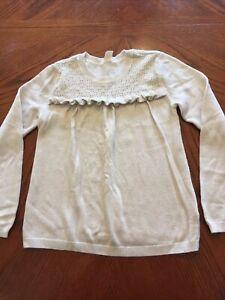 Girls Size Medium 8 Sparkly Sweater Old Navy Beige/Gold