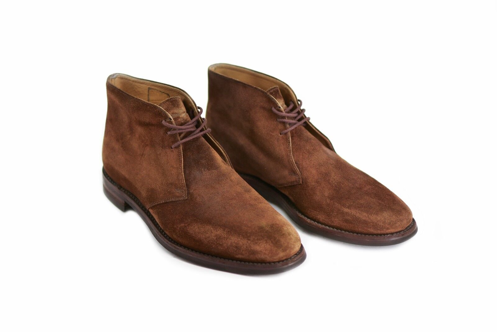 LOAKE mens boots shoes suede leather brown size outsole 31cm  ENGLAND Genuine